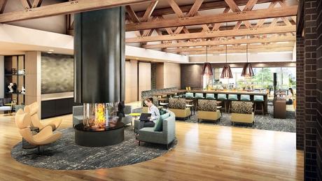Residence Inn San Carlos Lobby Rendering