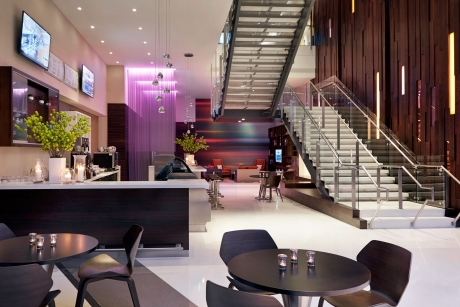 Courtyard Bistro, Media Pod, Lobby Stair