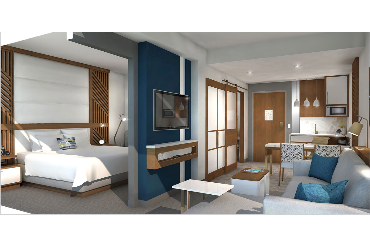 Embassy Suites Guestroom