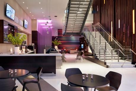 Courtyard Bistro, Media Pod, Lobby Stair