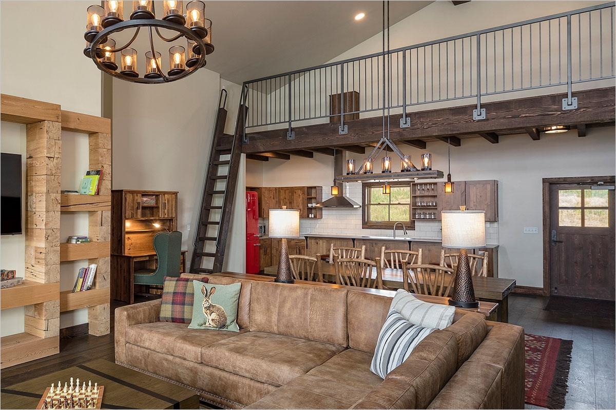 Sage Lodge - Cabin Living Room